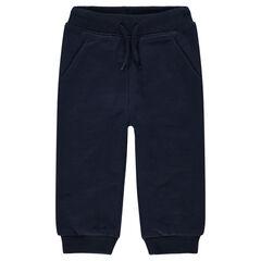 Pantalón de chándal de felpa gris jaspeada