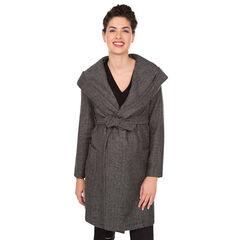 Abrigo de premamá en paño de lana