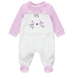 Pijama de terciopelo con forro de borreguito