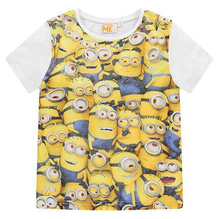 Camiseta manga corta con estampado Minion