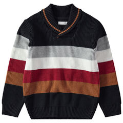 Jersey de rayas con amplias bandas que contrastan