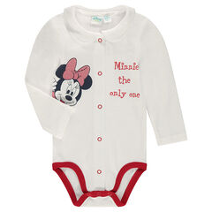 Body de punto con cuello tipo babero y estampado Disney Minnie