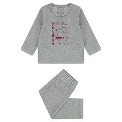 Pijama de terciopelo con zorros estampados