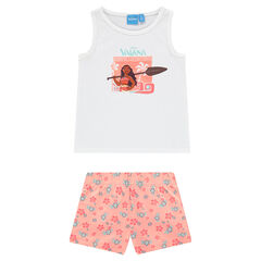 Pijama corto de punto estampado Disney Vaiana
