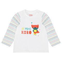 Camiseta de manga larga con estampado de animal