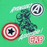 Conjunto corto de punto bicolor con estampado de Capitán América ©Marvel