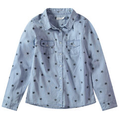Júnior - Camisa de manga larga con estrellas estampadas all-over