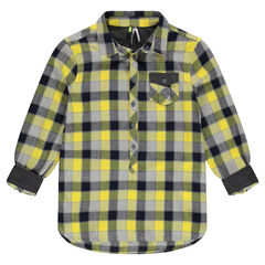 Camisa de manga larga de cuadros