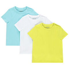 Lote de 3 camisetas manga corta lisas en algodón orgánico , Orchestra