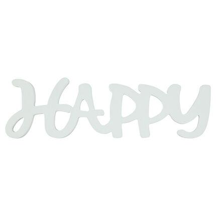 """""""HAPPY"""" de madera pintada"""