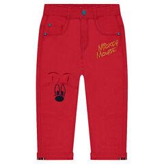 Pantalón de tela de fantasía con bordados ©Disney Mickey