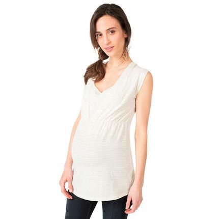 Túnica de manga corta para embarazo y lactancia
