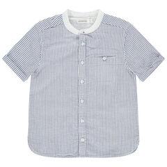 Camisa de manga corta con rayas y cuello redondo , Orchestra