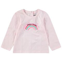 Camiseta de punto de manga larga con estampado de fantasía