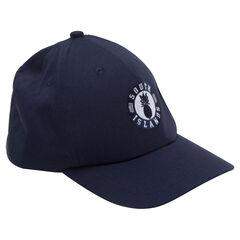 Gorra de sarga lisa con insignia bordada en la parte delantera