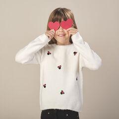 Pull en tricot motif Minnie Disney strass fantaisie , Orchestra