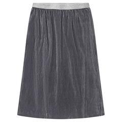 Júnior - Falda midi plisada con cintura brillante