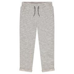 Júnior - Pantalón de muletón asargado con bolsillos