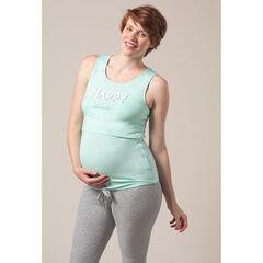 Parte superior del pijama de premamá y lactancia con forma de camiseta
