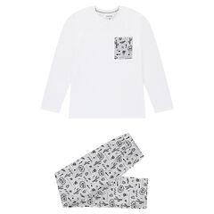 Júnior - Pijama de punto con estampado de cactus