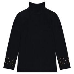 Camiseta interior con cuello subido fruncido y estrellas estampadas