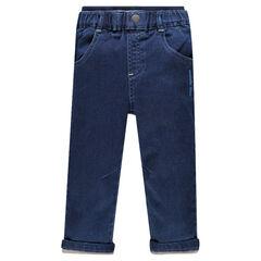 Pantalón de felpa efecto jeans