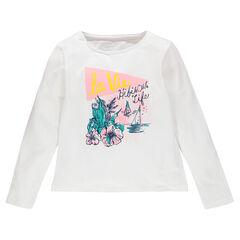 Júnior - Camiseta de manga larga con estampado de fantasía brillante