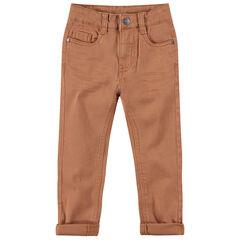 Júnior - Pantalón de sarga sobreteñida con bolsillo de fantasía en la parte trasera