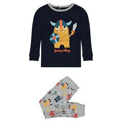 Pijama de punto de 2 piezas con vikingos estampados