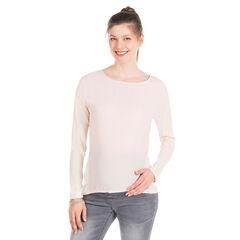 Camiseta manga larga para el embarazo de color liso