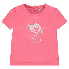 Camiseta manga corta estampado fantasía