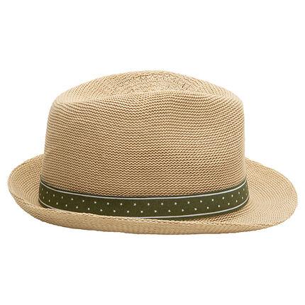 Sombrero trilby con lazo verde