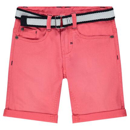 Bermudas de algodón teñido con cinturón desmontable