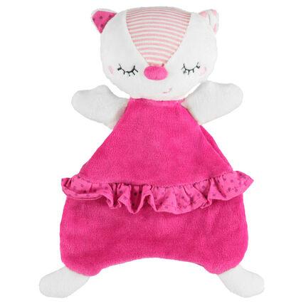 De tejido de punto de tela sherpa y de terciopelo con gato fantasía