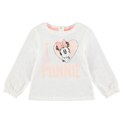 Camiseta de manga larga con Minnie y corazones estampados ©Disney