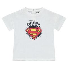 Camiseta de algodón ecológico con estampado de Superman ©Warner