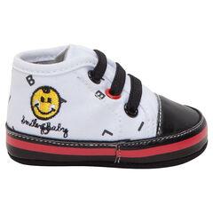 Zapatillas deportivas altas de tela ©Smiley Baby , SAXO BLUES