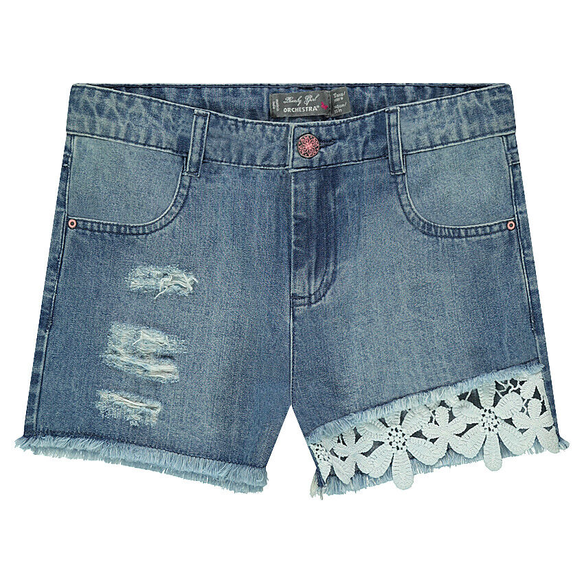 pantalon corto vaquero guipur
