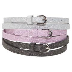 Pack de 3 cinturones brillantes
