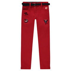 Pantalón de sarga Disney con bordados Minnie