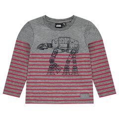 Camiseta interior de punto de rayas con estampado de robot Star Wars™