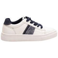 Zapatillas bajas con cordones que contrastan y bandas aplicadas de la 28 a la 38