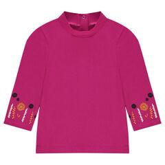 Camiseta interior con cuello alto con bordados en las mangas