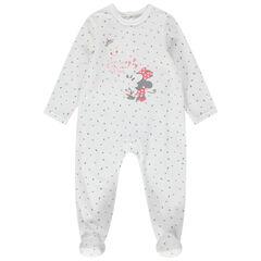 Pijama de terciopelo de Minnie Disney con estampado all over
