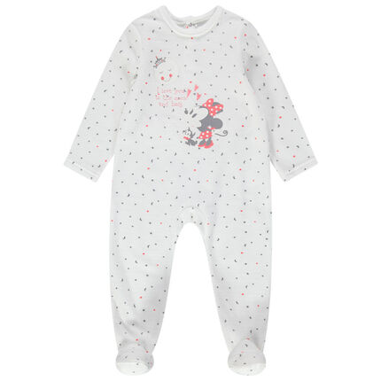 Pijama de terciopelo de Minnie Disney con estampado all over
