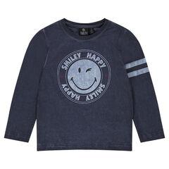 Camiseta de manga larga con estampado ©Smiley