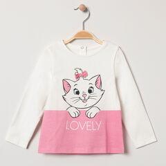Camiseta de manga larga bicolor estampada  Marie Aristochats