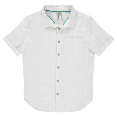 Camisa de manga corta con rayas all-over