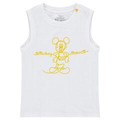 Camiseta sin mangas de punto slub ©Disney con estampado de Mickey