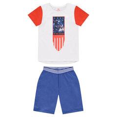 Júnior - Pijama de punto con estampado de Capitán América ©Marvel